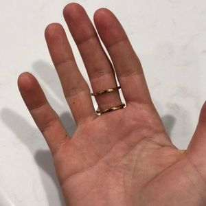 Michael Kors Accessories - Dainty, golden Michael Kors ring with gemstones